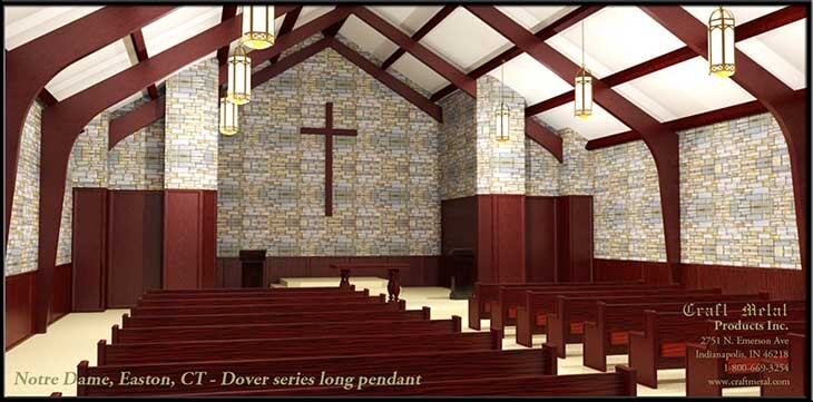 Notre Dame, Easton, CT Rendering
