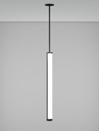 Austin Series Pendant Church Lighting Fixture in Semi-Gloss Black Finish