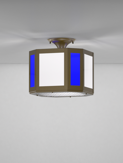Brookville Series Ceiling Mount Church Lighting Fixture in Array Finish