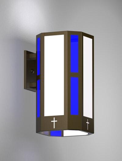 Brookville Series Wall Bracket Church Lighting Fixture in Array Finish