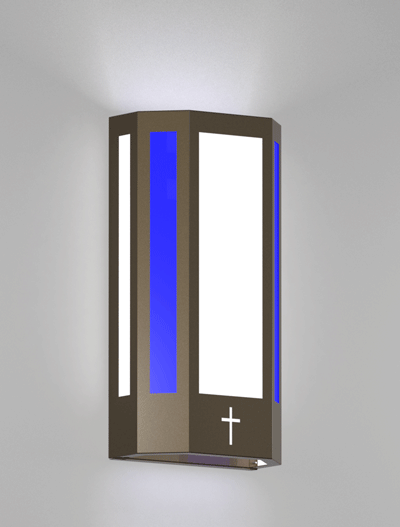 Brookville Series Wall Sconce Church Lighting Fixture in Array Finish