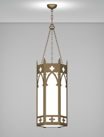 Cambridge Series Pendant Church Lighting Fixture in Array Finish