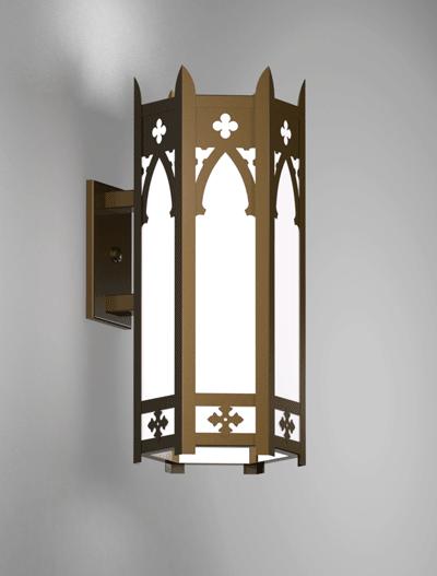 Cambridge Series Wall Bracket Church Lighting Fixture in Array Finish