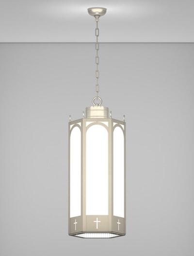 Charleston Series Pendant Church Lighting Fixture in Satin Nickel Finish