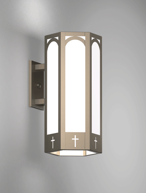 Charleston Series Wall Bracket Church Lighting Fixture in Array Finish