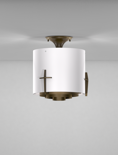 Corvallis Series Ceiling Mount Church Lighting Fixture in Array Finish