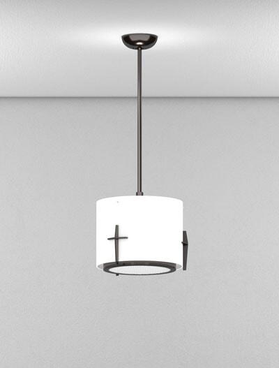 Corvallis Series Short Pendant Church Lighting Fixture in Duranodic 313 Finish