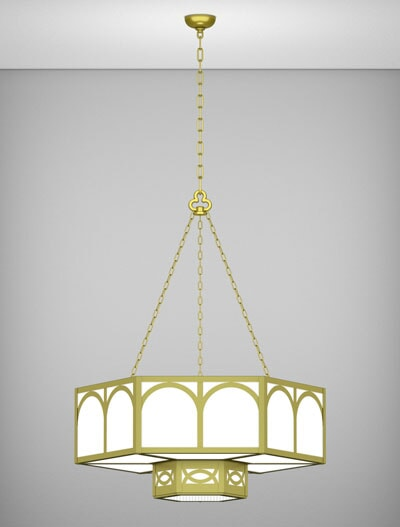 Dover Series 2-Tier Large Pendant Church Lighting Fixture in Array Finish