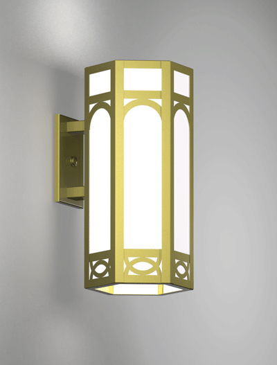 Dover Series Wall Bracket Church Lighting Fixture in Array Finish