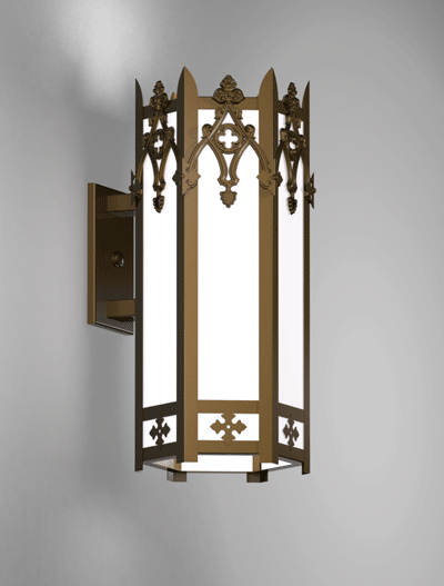 Easton Series Wall Bracket Church Lighting Fixture in Array Finish