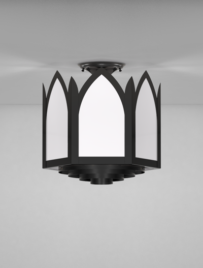 Gainesville Series Ceiling Mount Church Lighting Fixture in Array Finish
