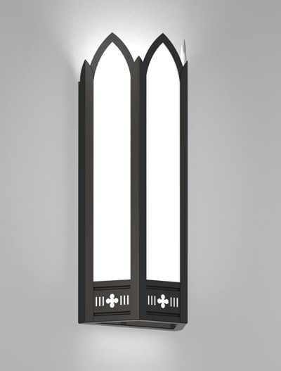 Gainesville Series Wall Sconce Church Lighting Fixture in Array Finish
