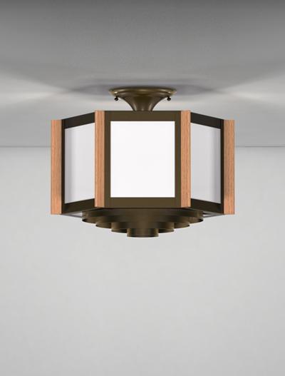 Hampton Series Ceiling Mount Church Lighting Fixture in Duranodic 313 Finish