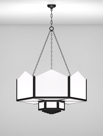 Hancock Series 2-Tier Large Pendant Church Lighting Fixture in Array Finish