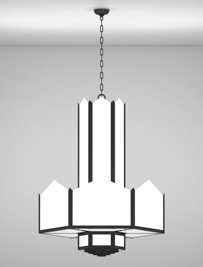 Hancock Series 3-Tier Large Pendant Church Lighting Fixture in Array Finish