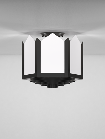 Hancock Series Ceiling Mount Church Lighting Fixture in Array Finish
