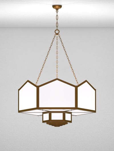 Hammond Series 2-Tier Large Pendant Church Lighting Fixture in Array Finish