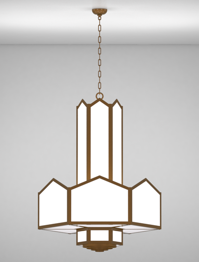 Hammond Series 3-Tier Large Pendant Church Lighting Fixture in Array Finish
