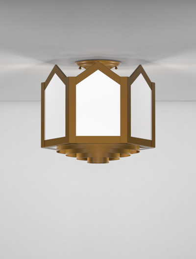 Hammond Series Ceiling Mount Church Lighting Fixture in Nu Bronze Finish