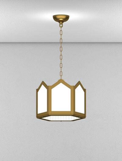Hammond Series Short Pendant Church Lighting Fixture in Medium Bronze Finish