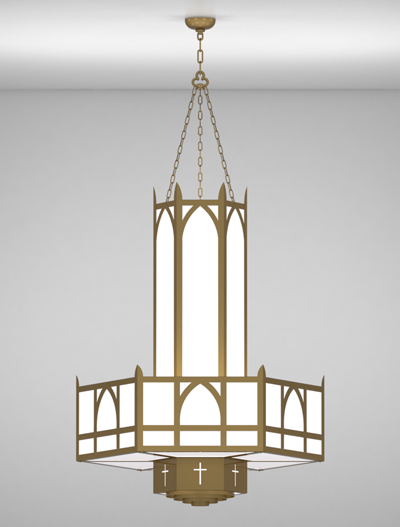 Hartford Series 3-Tier Large Pendant Church Lighting Fixture in Array Finish