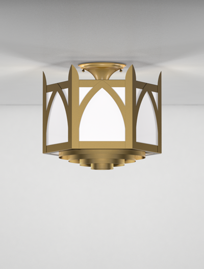 Hartford Series Ceiling Mount Church Lighting Fixture in Roman Gold Finish