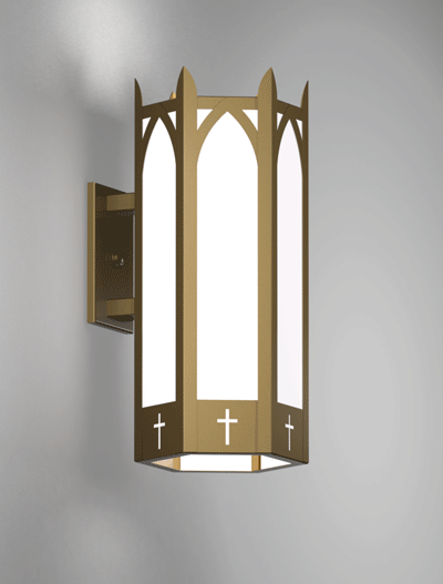 Hartford Series Wall Bracket Church Lighting Fixture in Array Finish
