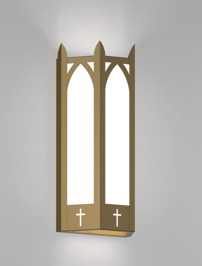 Hartford Series Wall Sconce Church Lighting Fixture in Roman Gold Finish