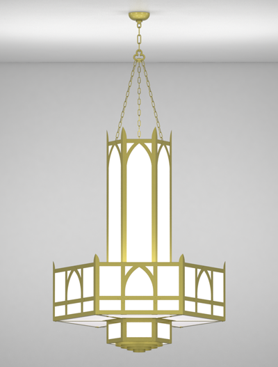 Hagerstown Series 3-Tier Large Pendant Church Lighting Fixture in Array Finish