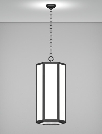 Houston Series Pendant Church Lighting Fixture in Semi Gloss Black Finish