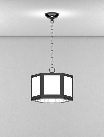 Houston Series Short Pendant Church Lighting Fixture in Semi-Gloss Black Finish