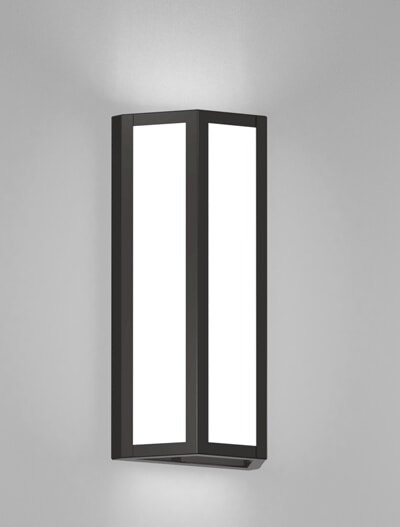 Houston Series Wall Sconce Church Lighting Fixture in Semi Gloss Black Finish