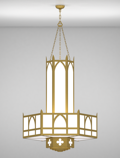 Ipswich Series 3-Tier Large Pendant Church Lighting Fixture in Array Finish