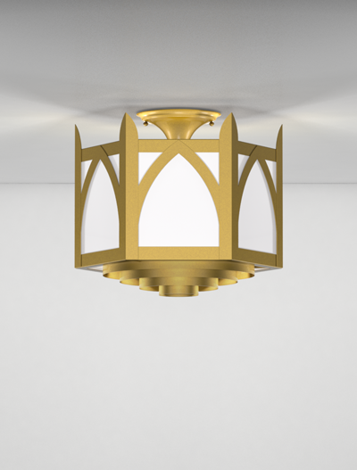 Ipswich Series Ceiling Mount Church Lighting Fixture in Array Finish