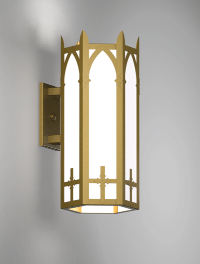 Ipswich Series Wall Bracket Church Lighting Fixture in Array Finish
