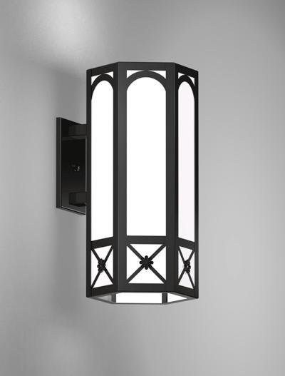 Jamestown Series Wall Bracket Church Lighting Fixture in Semi-Gloss Black Finish