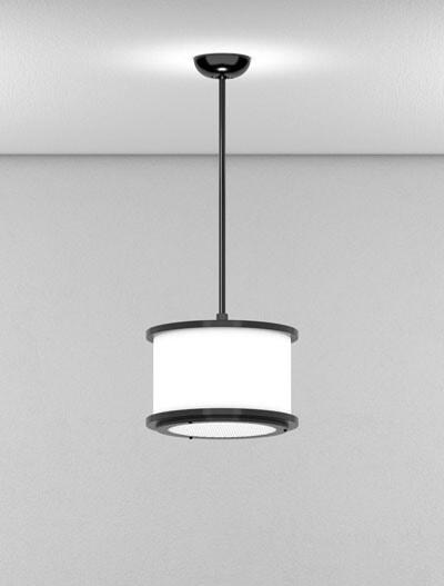 Los Angeles Series Short Pendant Church Lighting Fixture in Semi-Gloss Black Finish