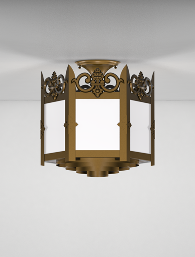 Lancaster Series Ceiling Mount Church Lighting Fixture in Array Finish