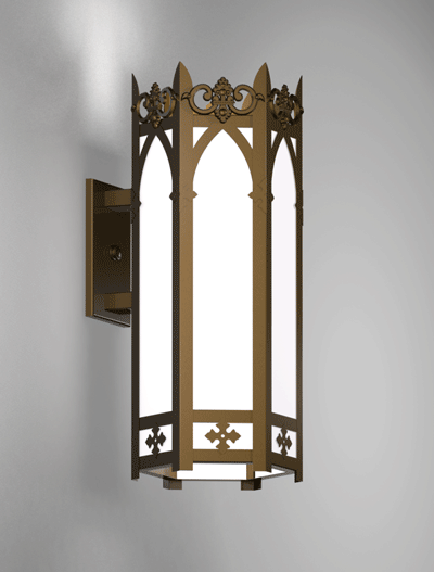 Lancaster Series Wall Bracket Church Lighting Fixture in Array Finish