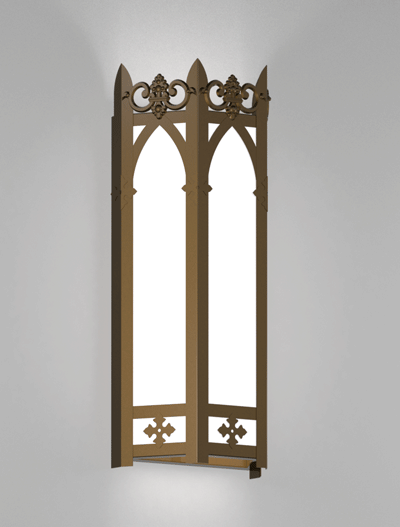 Lancaster Series Wall Sconce Church Lighting Fixture in Array Finish