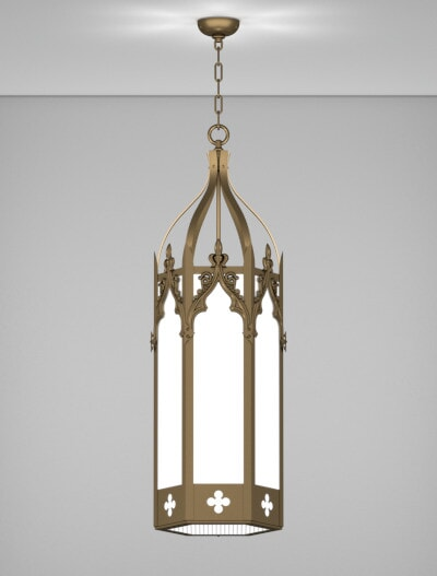 Lafayette Series Pendant Church Lighting Fixture in Array Finish