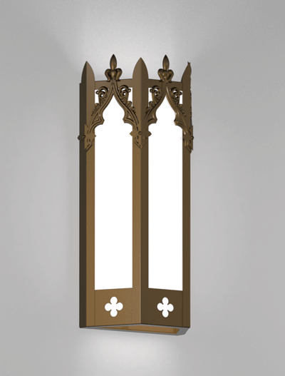 Lafayette Series Wall Sconce Church Lighting Fixture in Array Finish