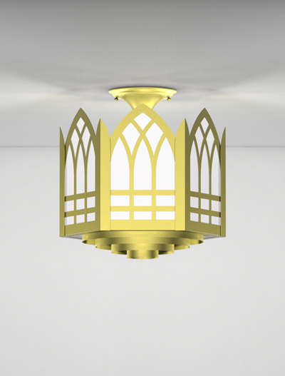 Norwich Series Ceiling Mount Church Lighting Fixture in Array Finish