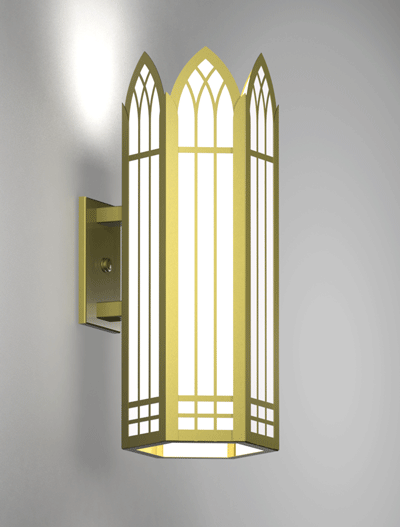 Norwich Series Wall Bracket Church Lighting Fixture in Array Finish