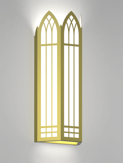Norwich Series Wall Sconce Church Lighting Fixture in Array Finish