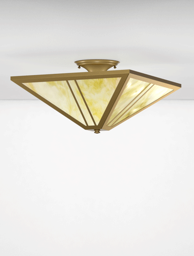 Oak Park Series Ceiling Mount Church Lighting Fixture in Roman Gold Finish