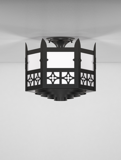 Oxford Series Ceiling Mount Church Lighting Fixture in Array Finish