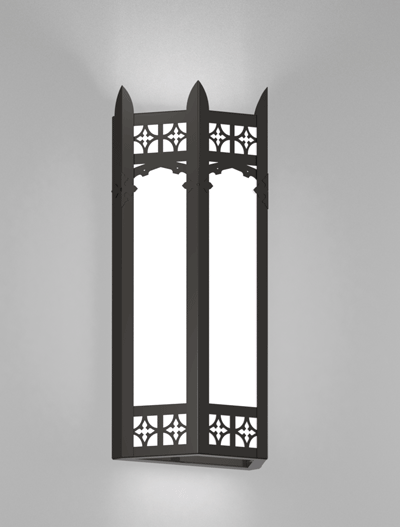 Oxford Series Wall Sconce Church Lighting Fixture in Semi Gloss Black Finish