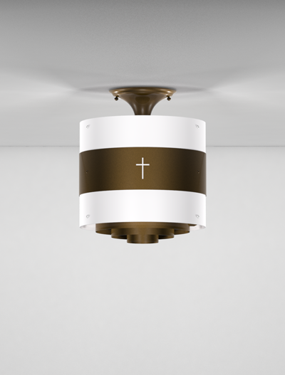 Phoenix Series Ceiling Mount Church Lighting Fixture in Array Finish
