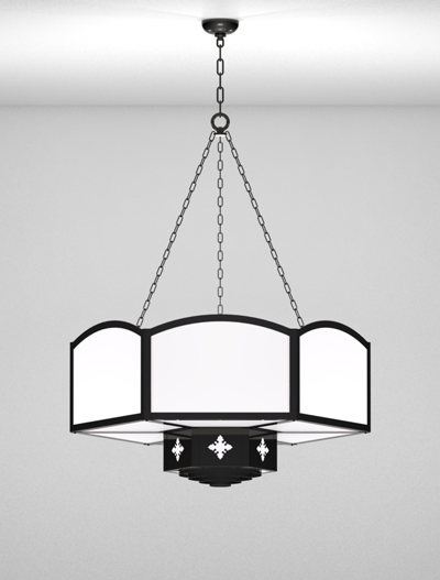 Randolph Series 2-Tier Large Pendant Church Lighting Fixture in Array Finish